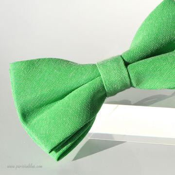 Noeud papillon en piqué de coton vert