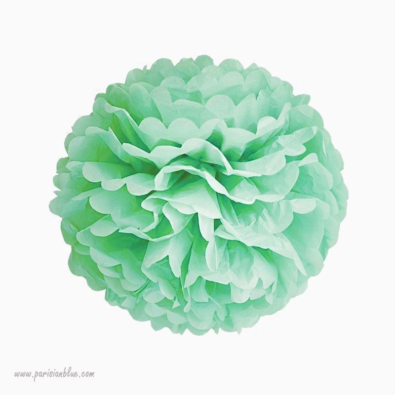 rosace pompon fleur papier de soie rose p che chambre b b fille. Black Bedroom Furniture Sets. Home Design Ideas