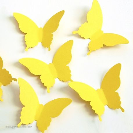 Confettis Papillon Jaune