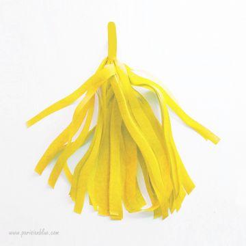 Pompon Franges Tassel - Jaune- Papier Soie pour Guirlande DIY