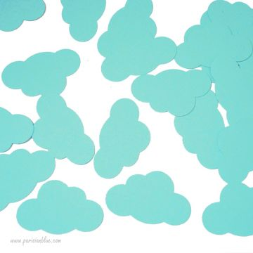 Confettis Nuages Menthe baby shower decoration table anniversaire luxe enfant paris