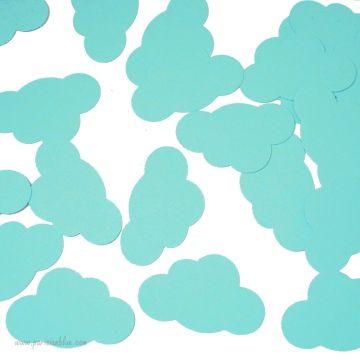 Confettis Nuages Menthe