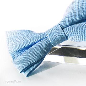 Noeud papillon en piqué de coton Bleu doux