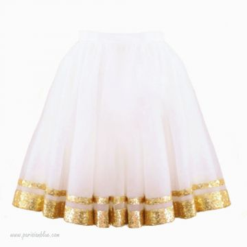 tutu sequin or champagne volume paris céremonie robe céremonie cortege bapteme anniversaire enfant paris