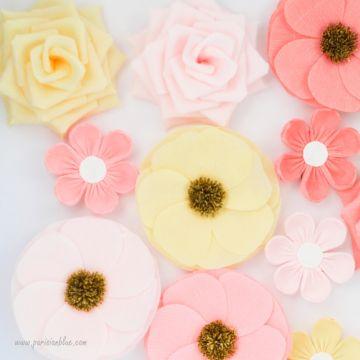 Un maxi mur de 12 Fleurs pastelles