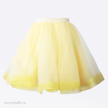 horsehair tutu bouffant jaune volume paris céremonie robe céremonie cortege bapteme anniversaire enfant paris