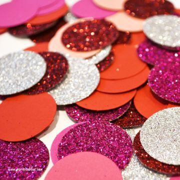 confettis ronds paillettes rouge paillettes argent confettis pastille confettis de table anniversaire petit chaperon rouge