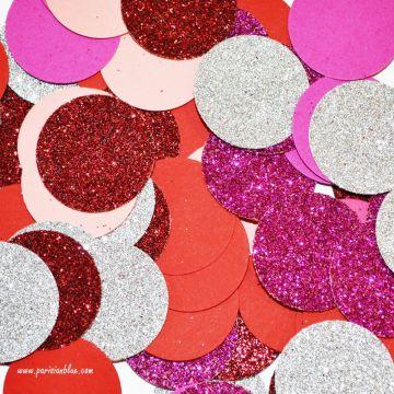 Confettis paillettes multicolores