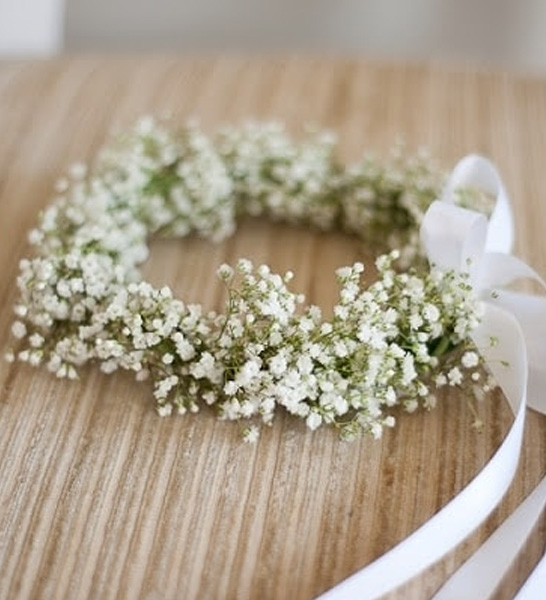 couronne fleurs gypsophile